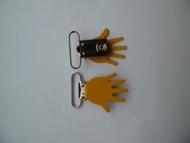Bretel klip handje warm geel