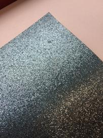 Glitter Leer Mint Blauw 20x22 cm