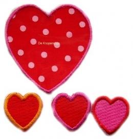 A6 Stippenhart & 3 kleine hartjes