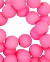 Kralen acryl mat 10 mm roze