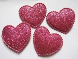 glitter hart fuchsia