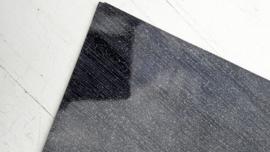 Leer glimmend glitter /streep motief zwart