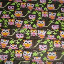 Kinderband uil roze