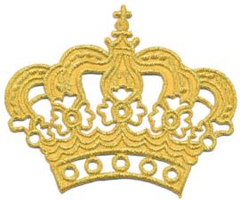 Applicatie opstrijkbaar gouden kroon