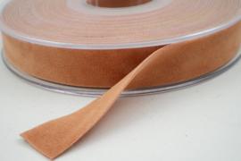Velvet/fluweel band zalm dubbelzijdig 1.5cm