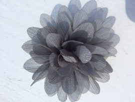 Glitter Bloem grijs 7 cm