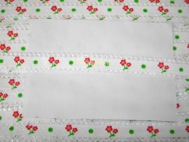 Elastiek met kantje & rode roosjes