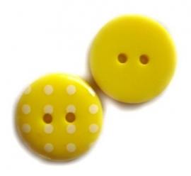 Stippen knoop geel 1,5cm
