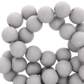 Kralen acryl mat 10 mm grey