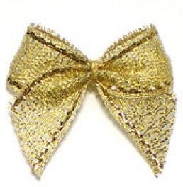 Strikje metallic goud