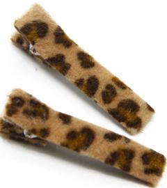 Alligator knip  5cm velvet tijger