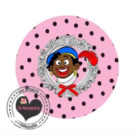 Flatback  piet roze polkadot