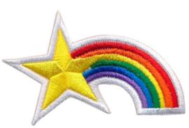 Patches regenboog met ster opstrijkbaar