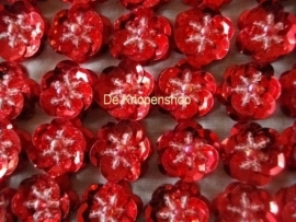 Pailletten bloemetje rood pst