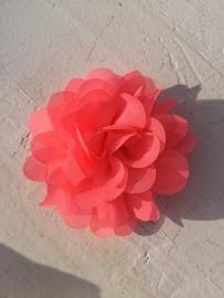 Chiffon bloem neon roze 7cm
