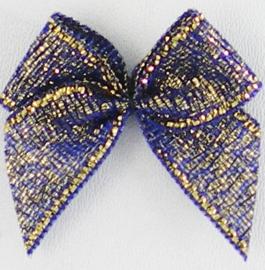 Strikje metallic Blauw/goud