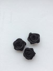 Roosjes zwart 1,5cm