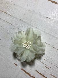 Vintage bloem ivoor 5cm