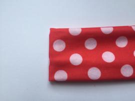 Haarband rood polkadot groot