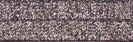 Elastisch biasband zilver glitter op zwart  2cm breed