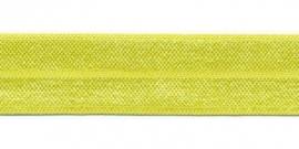 Elastisch biasband neon geel  (haarband) 2 cm