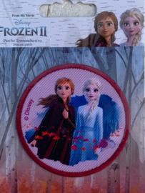 Frozen opstrijk applicatie ELSA + ANNA rond
