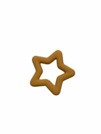 Flatback kraal ster geel-goud