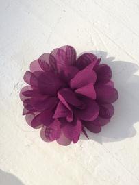 Chiffon bloem fuchsia/paars 7cm