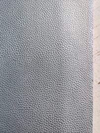 Leer structuur glans zilvergrijs