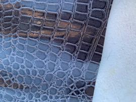 krokodillenprint leer grijs 20x30cm
