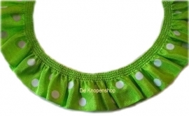 Ruche band lime polka dot