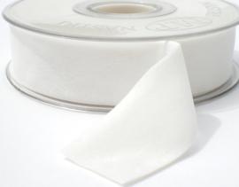Velvet/fluweel band off white dubbelzijdig  2.5cm