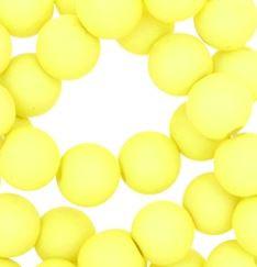 Kralen acryl mat 10 mm pastel geel