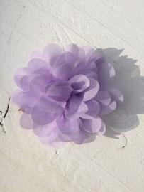 Chiffon bloem lila 7cm