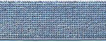 Elastisch band grijs met zilver glitter 2.5cm