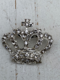 Rhinestone luxe kroon strass met broche speld