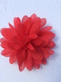 Glitter Bloem rood 7 cm