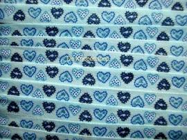Hartjes band blauw