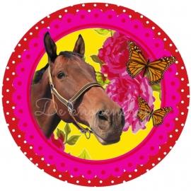 Flatback paard met vlinders