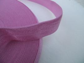 Elastisch biasband  poeder roze (haarband) 2 cm
