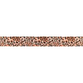 Tijger/panter band satijn 2.5cm