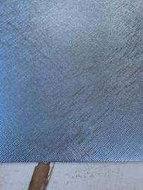 Leer metallic grijs/blauw