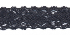 Elastisch kant donkerblauw  22 mm