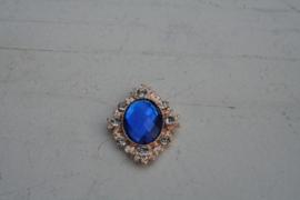 Flatback rhinestone royal blue/cobalt blauw