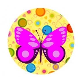 Flatback vlinder confetti