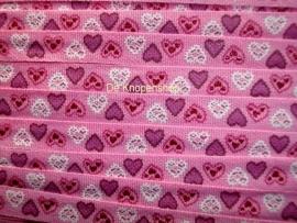 hartjes band roze
