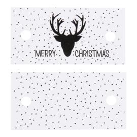 Label met tekst: Merry Christmas