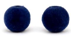 Pompom kralen donkerblauw
