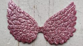 Vleugel 7,5cm fijn glitter kies je kleur