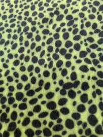 leer vacht panter/tijger lime  20x30 cm